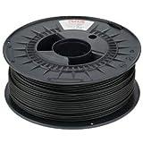 NuNus PETG Filament 1KG - 1,75mm Polyethylenterephthalat Lebensmittelecht Filament *Premium Qualität in verschiedenen Farben geeignet für 3D Drucker, 3D Pen, MakerGear Ultimaker uvm(1.75mm, schwarz)