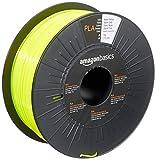 AmazonBasics 3D-Drucker-Filament aus PLA-Kunststoff, 1,75 mm, Neongelb, 1-kg-Spule