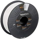Amazon Basics 3D-Drucker-Filament aus PETG-Kunststoff, 1,75 mm, Weiß, 1-kg-Spule