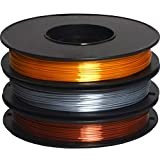 DERUC Geeetech Silk Filament PLA 1,75 mm für 3D Drucker, PLA Filament, 0,5 kg pro Spule, 3 Spulen (Gold+Silber+Kupfer)