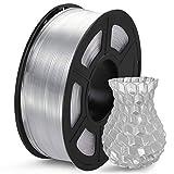 SUNLU Filament 1.75mm PETG 3D Drucker Filament PETG 1kg Spool (2.2lbs), Toleranz beim Durchmesser liegt bei +/- 0,02mm PETG Transparent