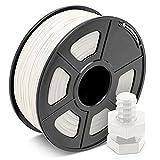 ABS Filament 1.75mm Weiß, JAYO 3D Drucker Filament 1KG 1 Spule, Toleranz +/- 0,03mm