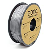 Eono Verwicklungsfreies PETG-Filament für 3D-Drucker, 1,75mm, 1kg,Grau, versprödungssicher, hervorragende Haftung und hochtemperaturbeständig für stabile Druckteile.