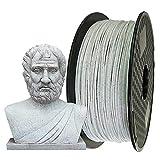 Uniqstore 3D-Drucker PLA Filament, 1.75 mm, 3D-Druckmaterial, 2,2 lbs (1Kg) Spool 3D-Filament für 3D-Drucker, Marmor Farbe PLA weiß