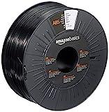 Amazon Basics 3D-Drucker-Filament aus ABS-Kunststoff, 1,75 mm, Schwarz, 1-kg-Spule