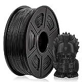 PETG Filament 1,75 mm, PETG 3D Druckerfilament, PETG Filament 1KG (2,2 lb) PETG Schwarz