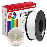 PLA 3D-Drucker-Filament, 1,75 mm, 3D-Druck-Filament, PLA für 3D-Drucker und 3D-Stift, metallische Farbe, PLA-Filament, blaues PLA-Filament, Maßgenauigkeit +/- 0,02 mm, 1 kg, 1 Spule, weiß, 1