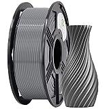 YOYI PETG Filament 1.75mm,3D Drucker Filament PETG 1.75mm 1kg Spool (2.2lbs), Toleranz beim Durchmesser liegt bei +/- 0,02mm (PETG Grau)