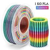 PLA Filament Rainbow 1.75mm,Multicolor PLA Filament for 3D Drucker,1KG(Spool),3D Printer Filament 1.75mm