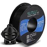 SUNLU Carbon Fiber PLA filament 1kg 1.75mm 3D Printer Filament, Dimensional Accuracy +/- 0.02 mm, 1kg Spool, 1.75 mm, Carbon Fiber Black