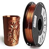 Noulei Shiny PLA Filament 1.75mm Silk Copper, 3d Drucker printer Filament PLA 500g Spool