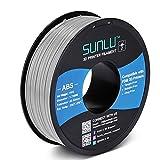 SUNLU ABS Filament 1.75mm for FDM 3D Printer, 1KG(2.2LBS) ABS 3D Filament Accuracy +/- 0.02 mm, Grey