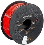 Amazon Basics 3D-Drucker-Filament aus PETG-Kunststoff, 1,75 mm, Rot, 1-kg-Spule