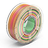 TECBEARS PLA 3D Printer Filament 1.75mm Rainbow, Dimensional Accuracy +/- 0.02 mm, 1 Kg Spool, Pack of 1