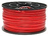 NuNus PLA Filament 1kg für 3D Drucker MakerBot RepRap MakerGear Ultimaker uvm. (rot, 3.00mm)