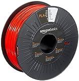 Amazon Basics 3D-Drucker-Filament aus PLA-Kunststoff, 1,75 mm, Rot, 1-kg-Spule