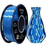 ERYONE Zijde PLA Filament voor 3D Printer, 1.75mm, Tolerantie: ¡À0.03mm, 1kg (2.2LBS)/Spool, Blau