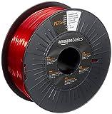 Amazon Basics 3D-Drucker-Filament aus PETG-Kunststoff, 1,75 mm, durchscheinendes Rot, 1-kg-Spule