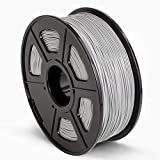 SUNLU 3D Printer Filament ABS, 1.75mm ABS 3D Printer Filament, 3D Printing Filament ABS for 3D Printer, 1kg, Grey