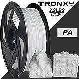 Nylon 3D-Druckerfilament, Maßgenauigkeit +/- 0.05 mm, 1 kg Spule, 1.75 mm, Weiß Perfekt gewickelter Faden ohne Verwicklungen