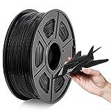 ABS-Filament 1,75 mm, 2021 Neuestes ABS 3D-Filament Schwarz, Maßgenauigkeit +/- 0,02 mm, 1 kg Spule, ABS Schwarz