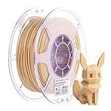 eSUN Holz PLA Filament 1.75mm, Holz PLA 3D Drucker Filament, Maßgenauigkeit +/- 0.05mm, 0.5KG (1.1 LBS) Spule für 3D Drucker in Vakuumverpackung, Holz Farbe