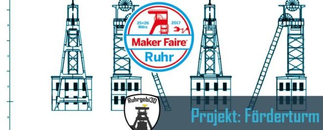 3D gedruckter Förderturm für die Maker Faire