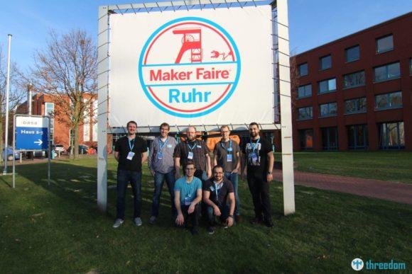 Teil des Ruhrgebi3D Teams auf der Maker Faire Ruhr 2017 in Dortmund