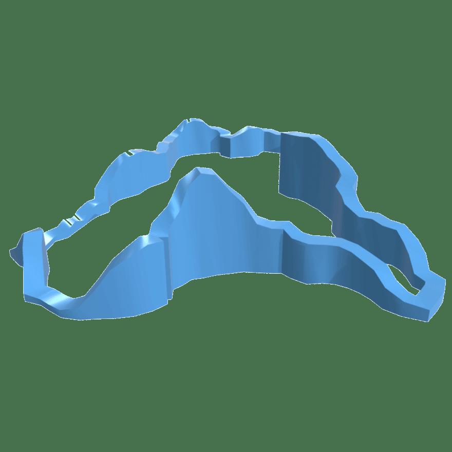 3D gedruckte Laufrouten für Jogger, Radfahrer und Wanderer