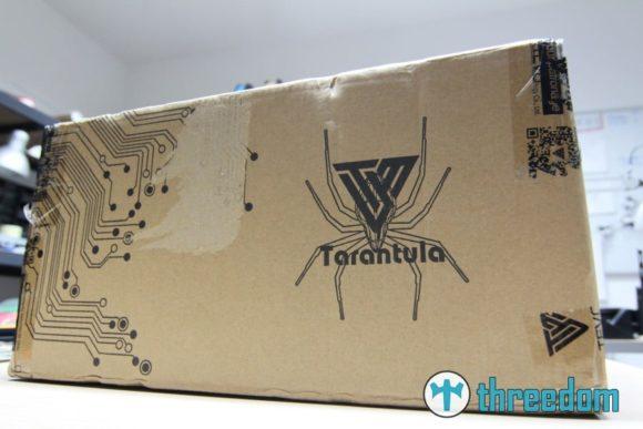 Tevo Tarantula in der Box. Bereit zum Aufbau