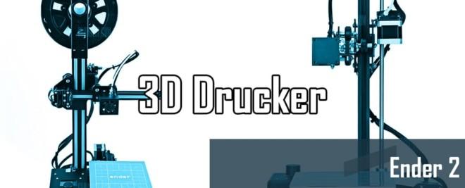 Creality3D Ender 2 – Günstig, aber auch gut? *Test, Video, Upgrades*