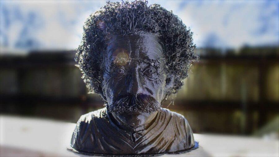 Albert Einstein mit Haare als Geschenkidee aus dem 3D Drucker