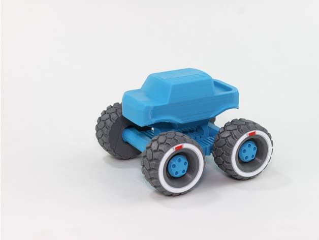 Mini Monster Truck als Geschenkidee aus dem 3D Drucker