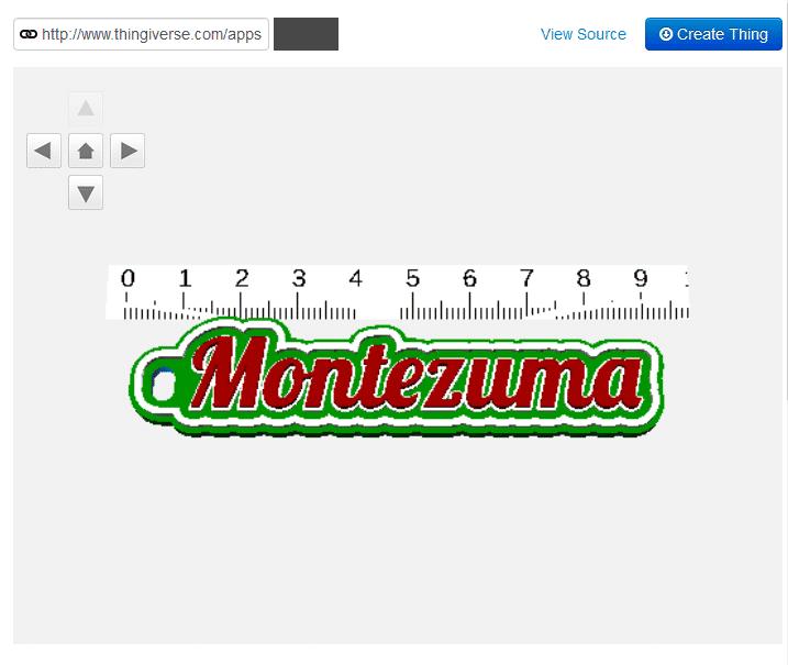 Geschenk für Montezuma aus dem 3D Drucker