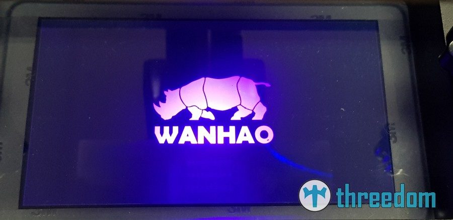 Wanhao Duplicator 7 Wanhao D7 Display Test