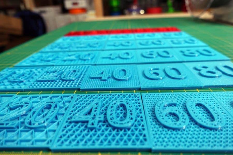 Infill im 3D Druck - verschiedene Arten und Werte