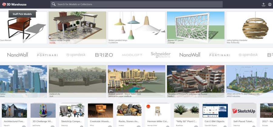 3D Warehouse 3D Vorlagen