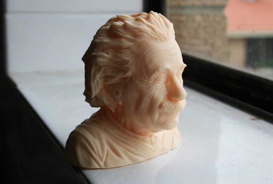 Albert Einstein Büste (Bildquelle: lsminiatures/thingiverse)