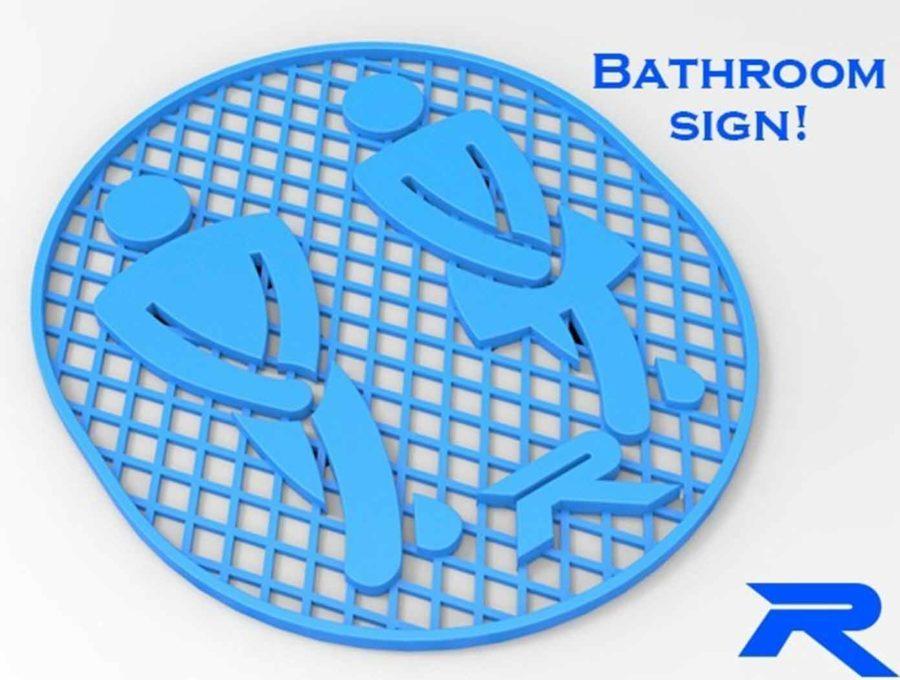 Badezimmer-Schild (Bildquelle: robo3d/thingiverse)