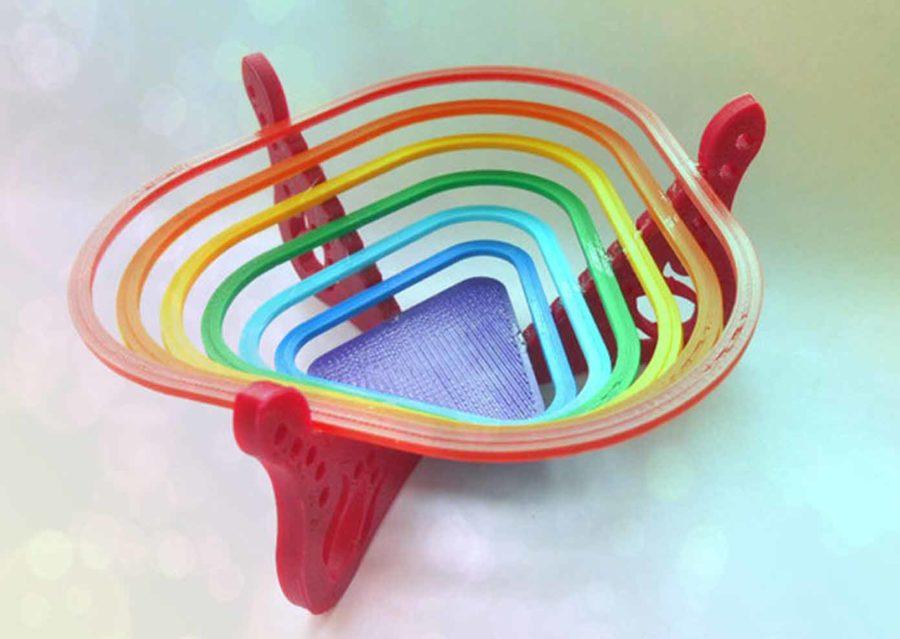 """Regenbogen-""""Schale"""" für Süßigkeiten (Bildquelle: tanyaakinora/thingiverse)"""