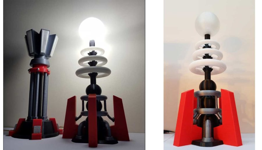 Command & Conquer Tesla Spulen Lampe (Bildquelle: chrisn889/thingiverse)