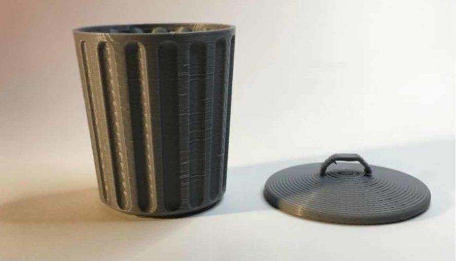 Schreibtisch Mülleimer mit Deckel (Bildquelle: httpkoopa/thingiverse)