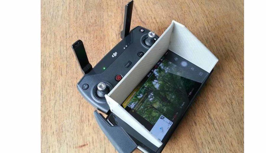 DJI Spark Sun Shield Für Große Smartphones (Bildquelle: biv2533/thingiverse)