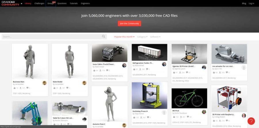 GrabCAD 3D Drucker Ideen