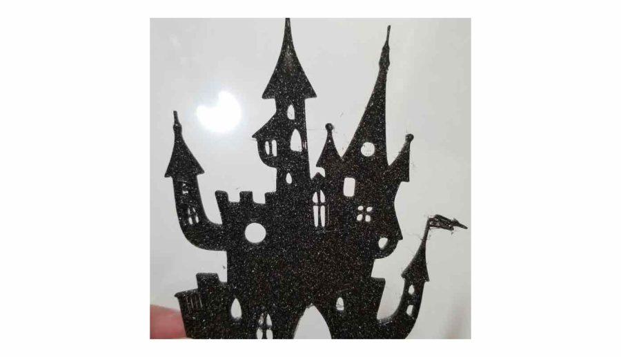 Halloween Gruselschloss Silhouette