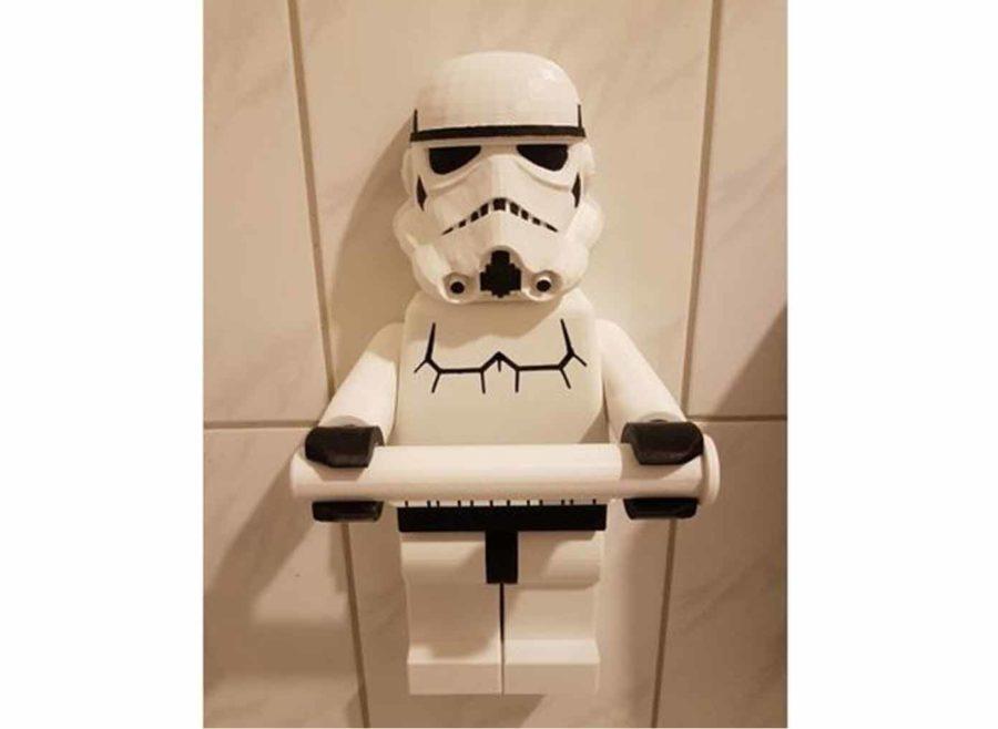Toilettenpapier-Rollenhalter für Star Wars bzw. Lego-Fans (Bildquelle: baathinape/thingiverse)
