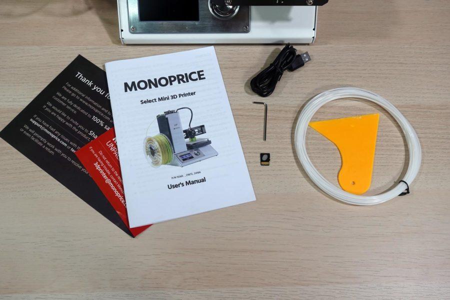 Monoprice Select Mini V2 Lieferumfang