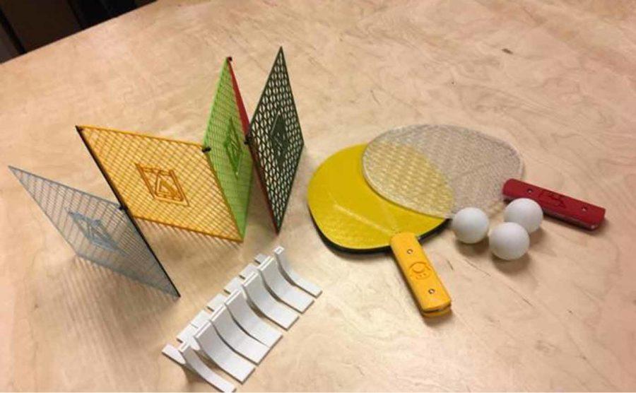 Komplettes Tischtennis-Set (Bildquelle: makerslabcz/thingiverse)