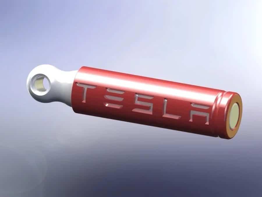 Tesla-Batterie Schlüsselanhänger