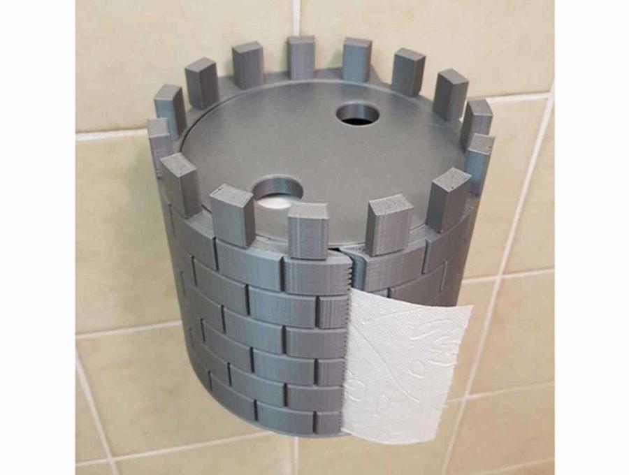 Toilettenpapier-Rollenhalter für Mittelalter-Fans (Bildquelle: sfi25/thingiverse)
